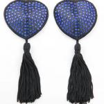 love in leather pastie – diamonte blue