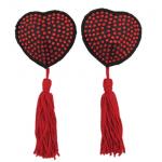 love in leather pastie – diamonte red